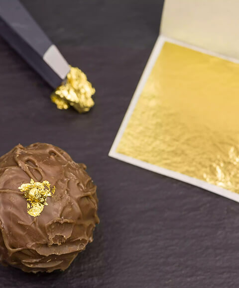 Cakes /& Chocolates KINNO Genuine 24 K Gold Leaf Sheets 10 Sheets 4.33 x 4.33 cm Pure Gold Leaf Paper for Facial Mask Cooking Decoration Health /& Spa