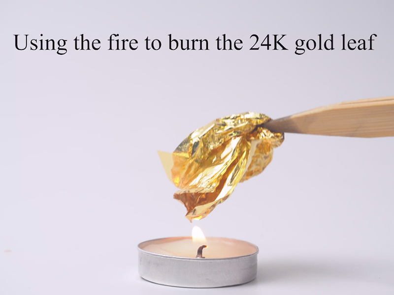 Difference between 24K Pure Gold leaf and Imitation Gold leaf
